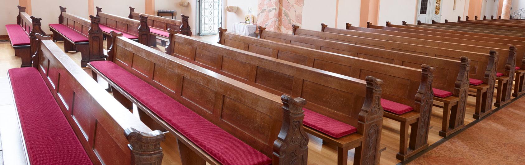 banc d'église coussin Samtplush code couleur 2536 couleur bordeaux Lisdorf