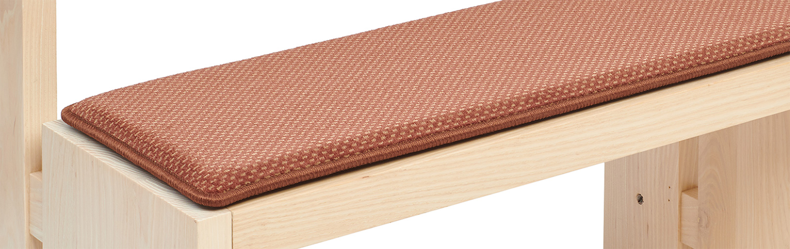 banque échantillon coussin Samtplush code couleur 2127 couleur brun rougeâtre