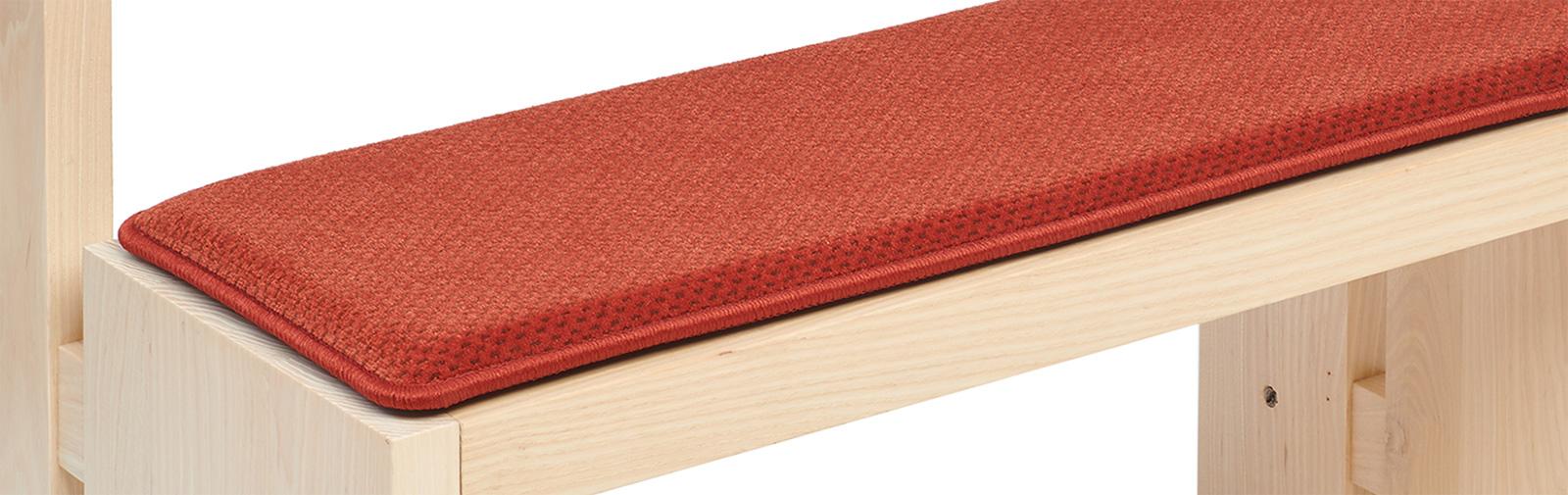 banque échantillon coussin Samtplush code couleur 2401 couleur rouge (ancien design)