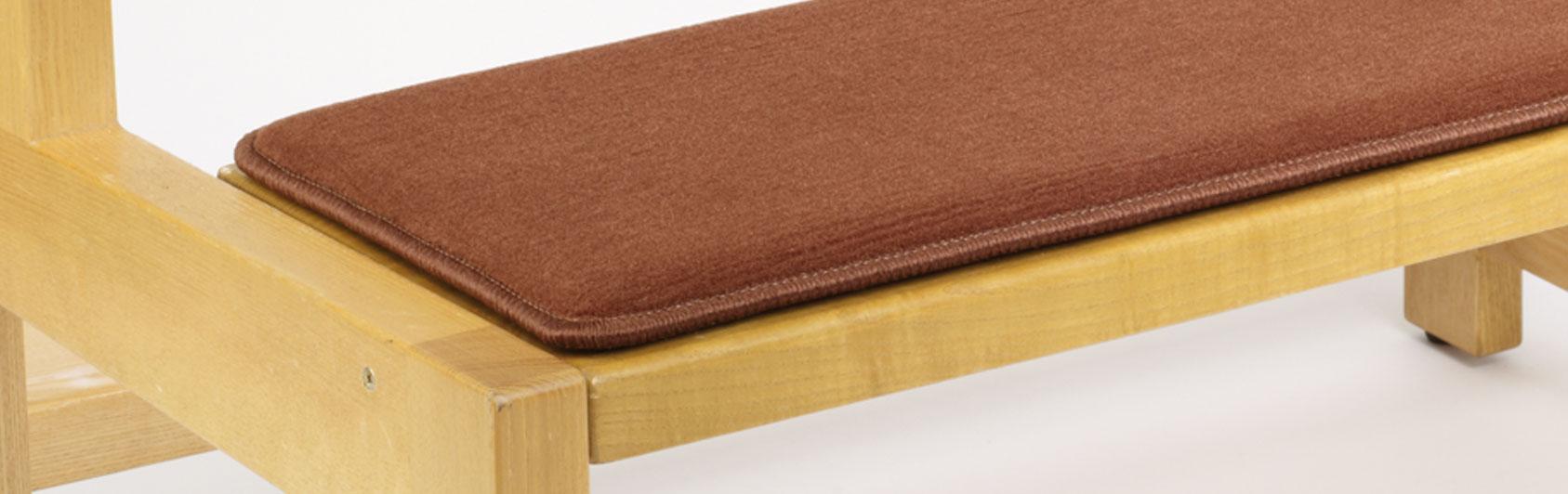 banque échantillon coussin Sitzplush code couleur 127 couleur brun rougeâtre