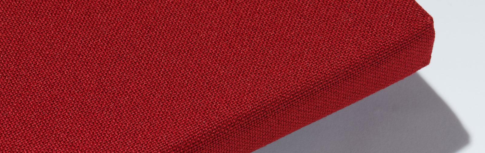 coussin Bankauflage Simplex 40 mm code couleur 7120 couleur rouge clair