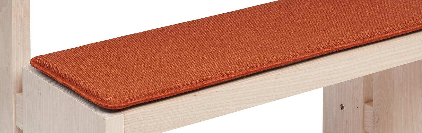 banque échantillon coussin Bankauflage Verano code couleur 651 couleur brun roux