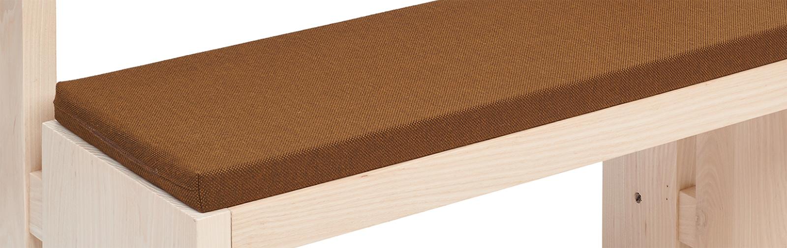 banque échantillon coussin Bankauflage Simplex 40 mm code couleur 7260 coleur brun moyen
