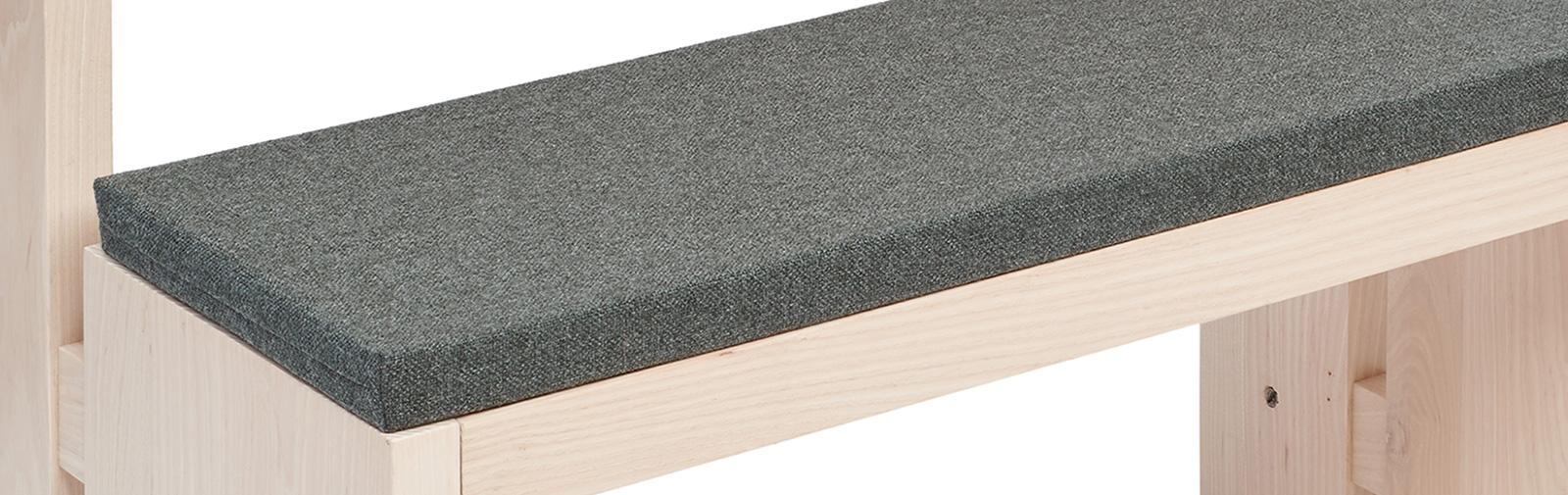 banque échantillon coussin Bankauflage Simplex 40 mm code couleur 7800 coleur gris foncé