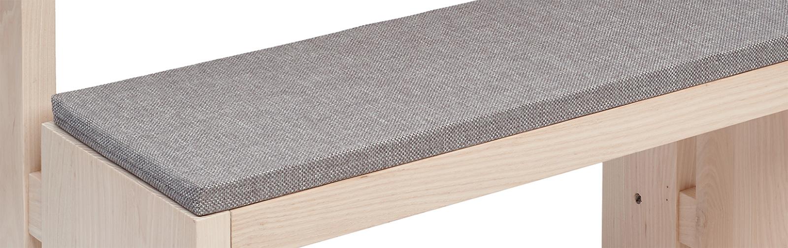 banque échantillon coussin Bankauflage Simplex Verano code couleur 683 coleur gris