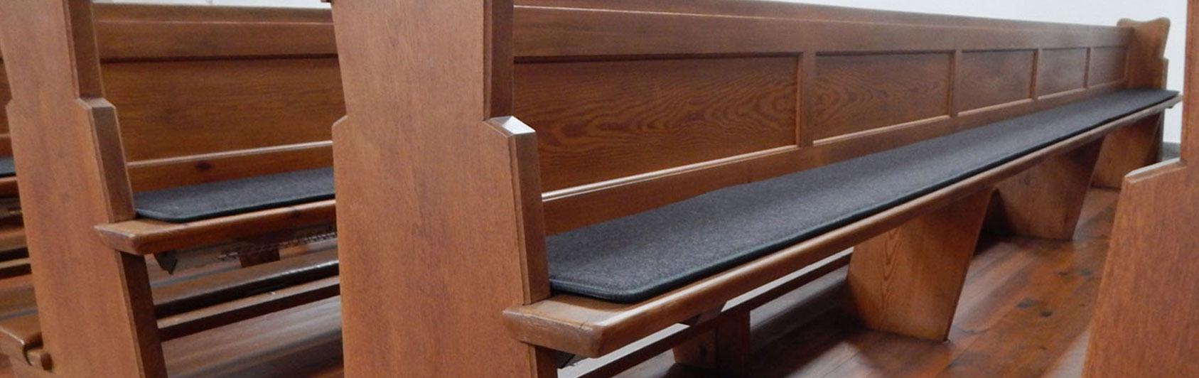 banc d'église notre coussin qualité feutre
