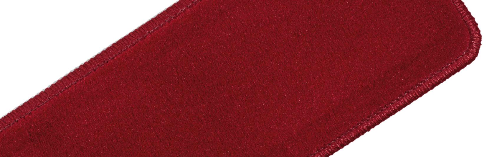 exemple agenouilloir velours qualité uni couleur code 611 couleur rouge clair