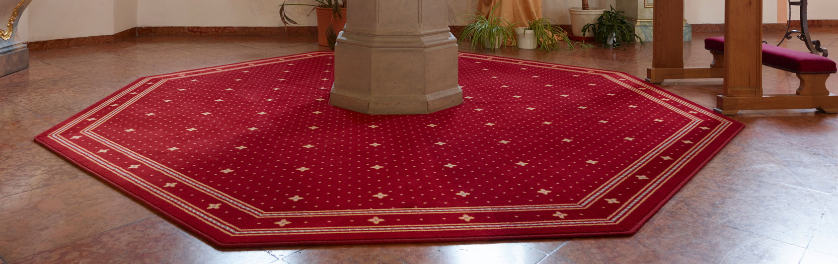 tapis d'église Capitol fonts baptismaux Lisdorf